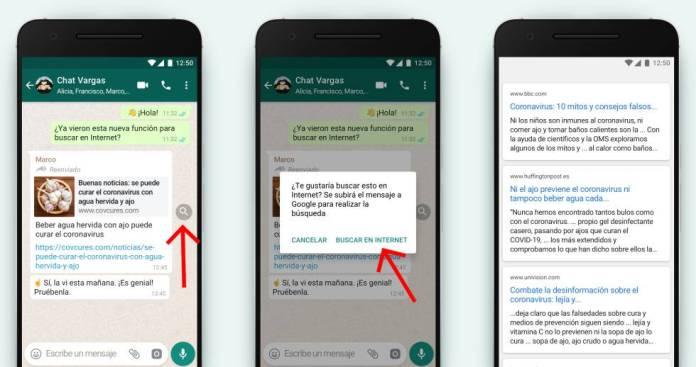 Nuevo sistema de verificación de fuentes en WhatsApp.