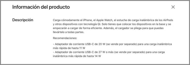 Apple notice on MagSage Duo page.