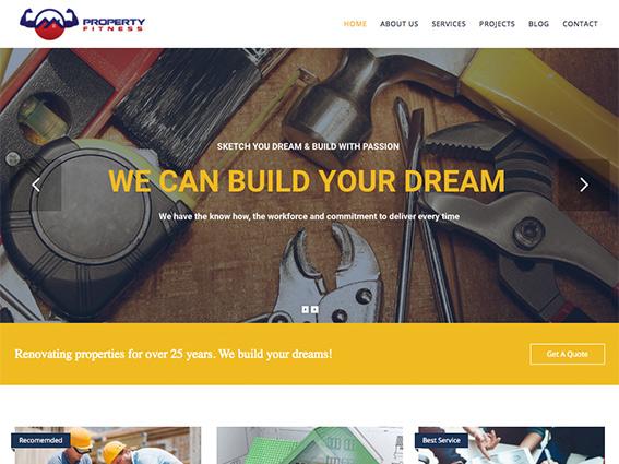 Property Fitness Website