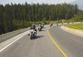 Canadian Rockies and Yellowstone Park Guided Motorcycle Tour, Banff
