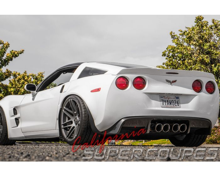 2005 2013 chevrolet corvette c6 exhaust diffuser v2 use with stock 4 exhaust tips