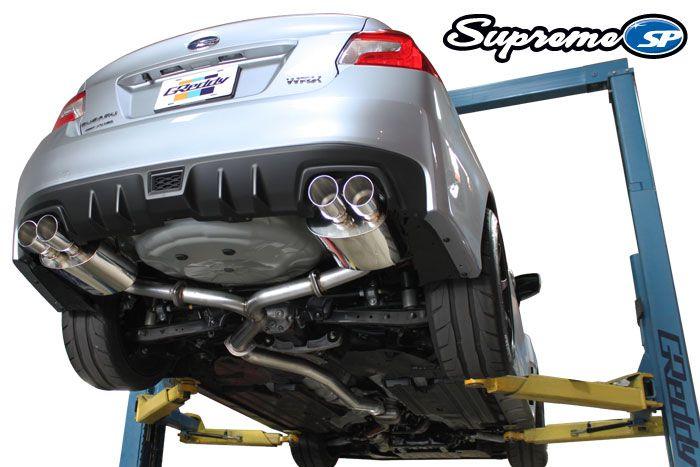 2015 2016 subaru wrx sti sedan greddy supreme sp cat back exhaust system