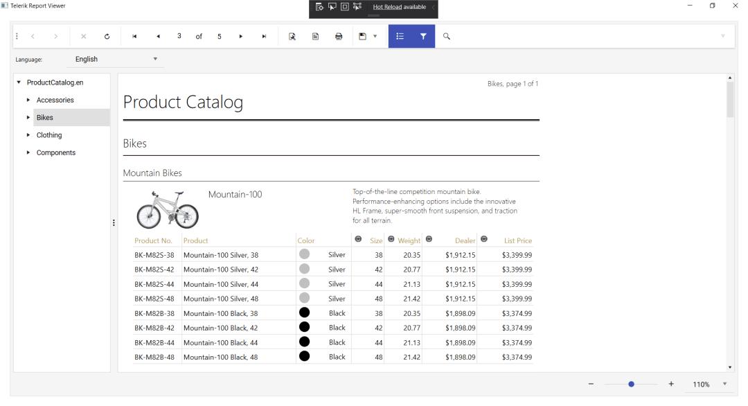 Catalogue de produits de vélos