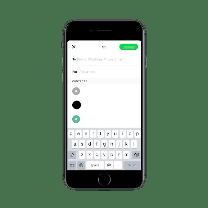 Cash App se connecte aux contacts téléphoniques d'un utilisateur.