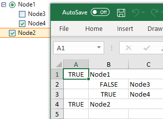Exportation des valeurs des cases à cocher TreeView à l'aide de l'interface utilisateur Telerik pour WinForms