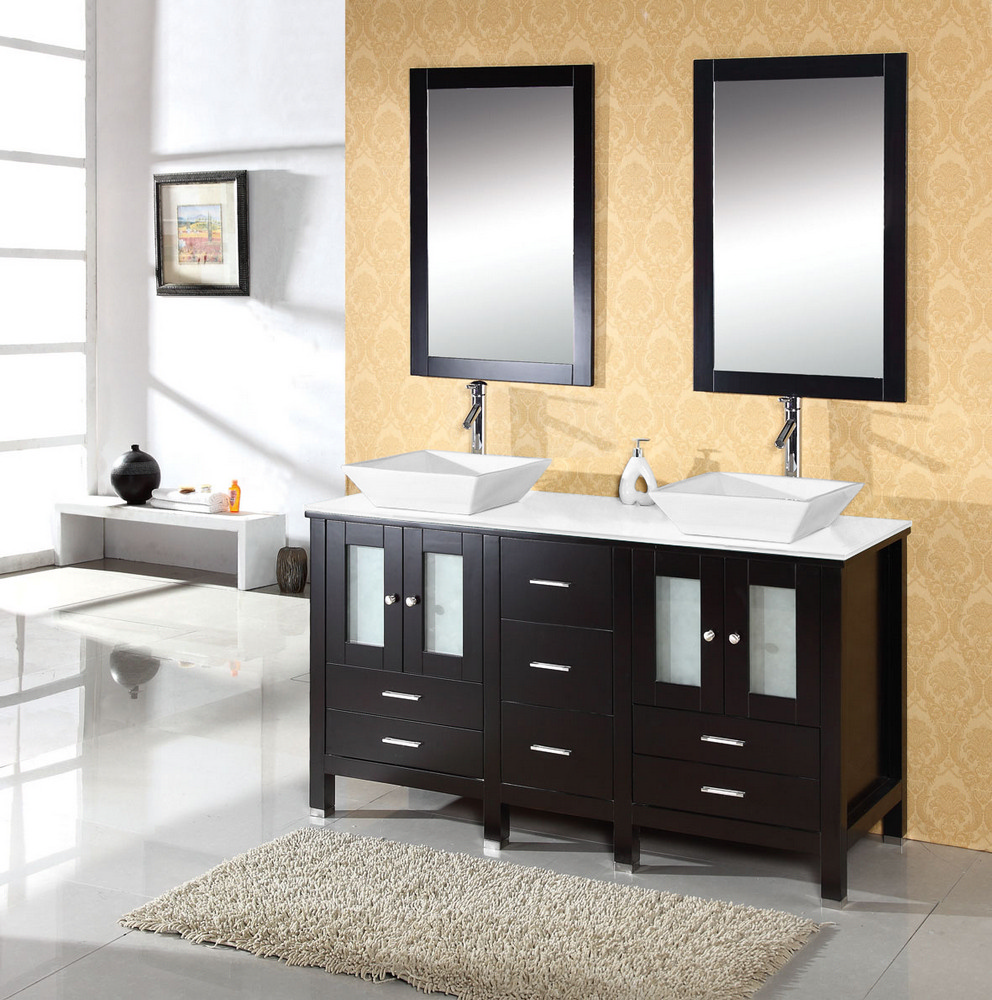 Double sink bathroom vanity bathroom design for Dining room sink designs