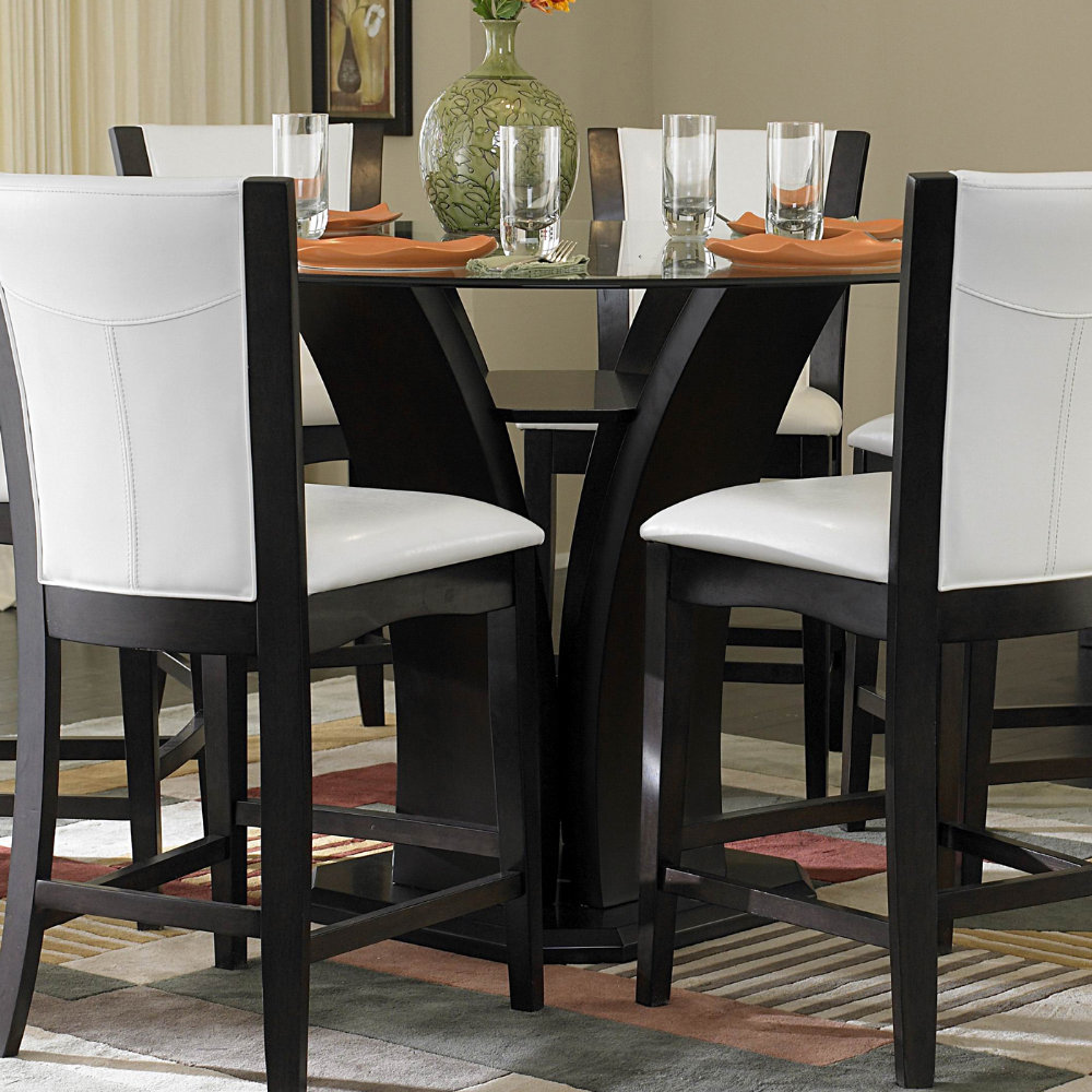 Counter height table dining table set efurniture mart for Furniture mart