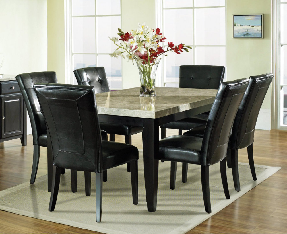 Dining Room Sets with Glass or Marble Top Table   Home ...