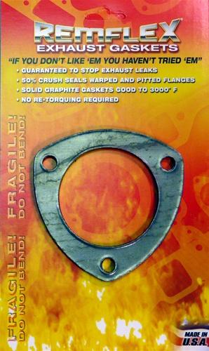 rmf rf8058 remflex 3 inch 3 bolt exhaust gasket circuit motorsports affordable performance