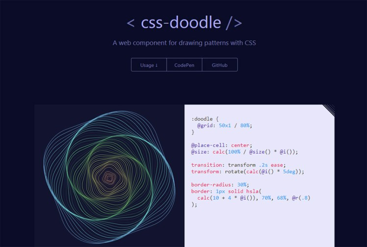 CSS Doodle page