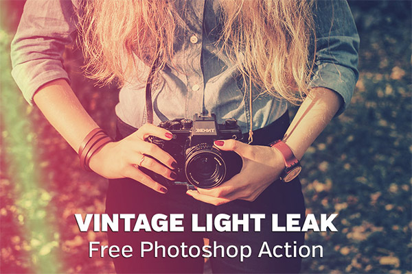 Vintage Light Leak Photoshop Action