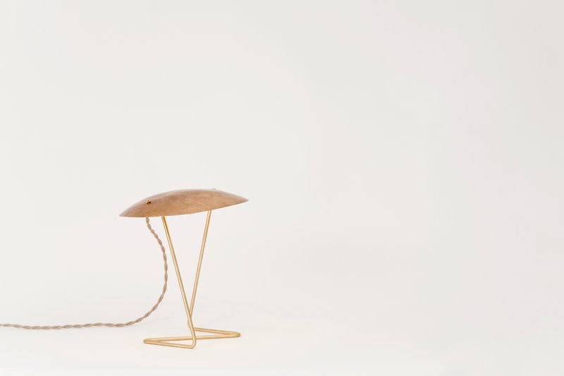 lindsey adelman hammered bronze table
