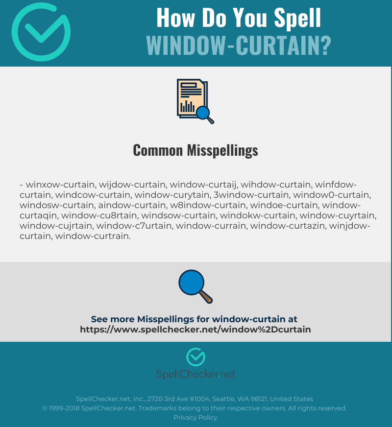 correct spelling for window curtain