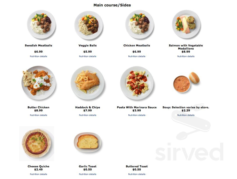 ikea vaughan restaurant menu in concord