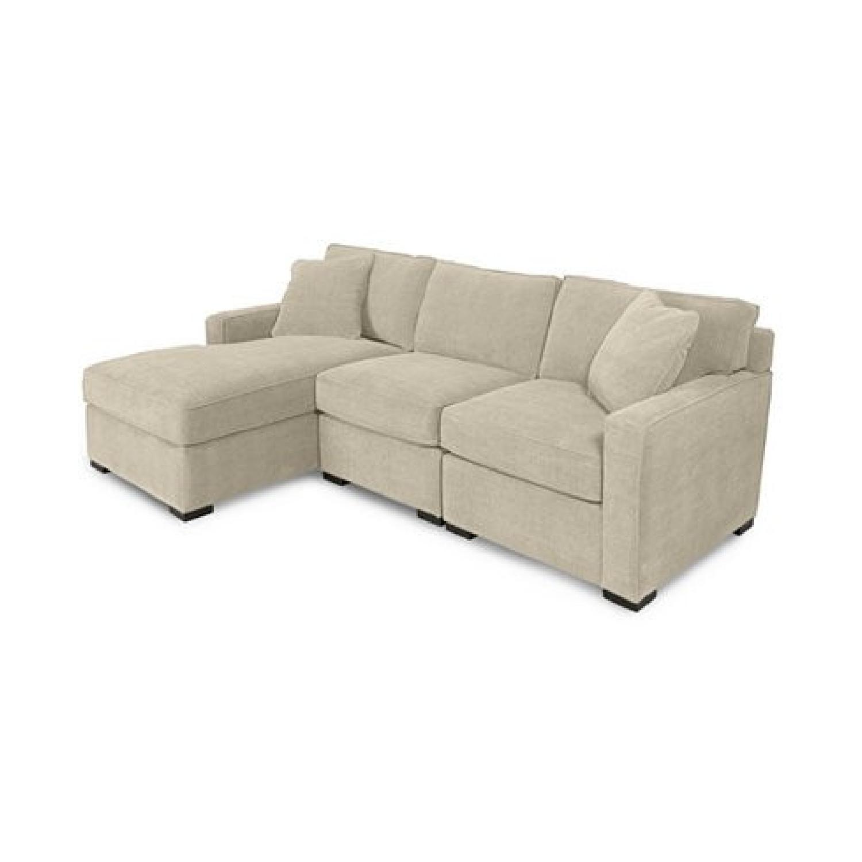 macy s radley 3 piece microfiber sectional sofa
