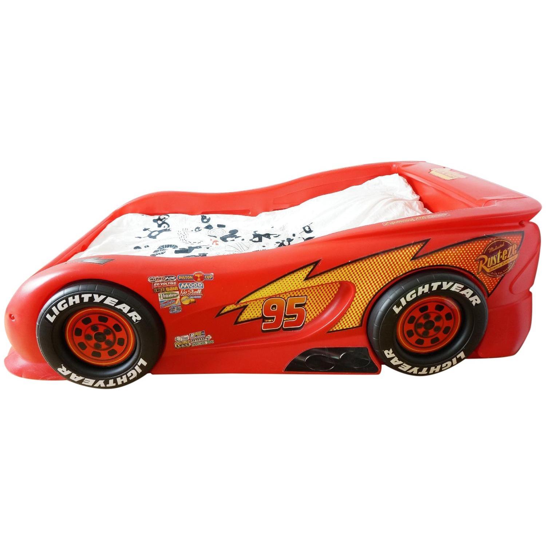 little tikes kid s disney pixar cars lightning mcqueen twin size bed