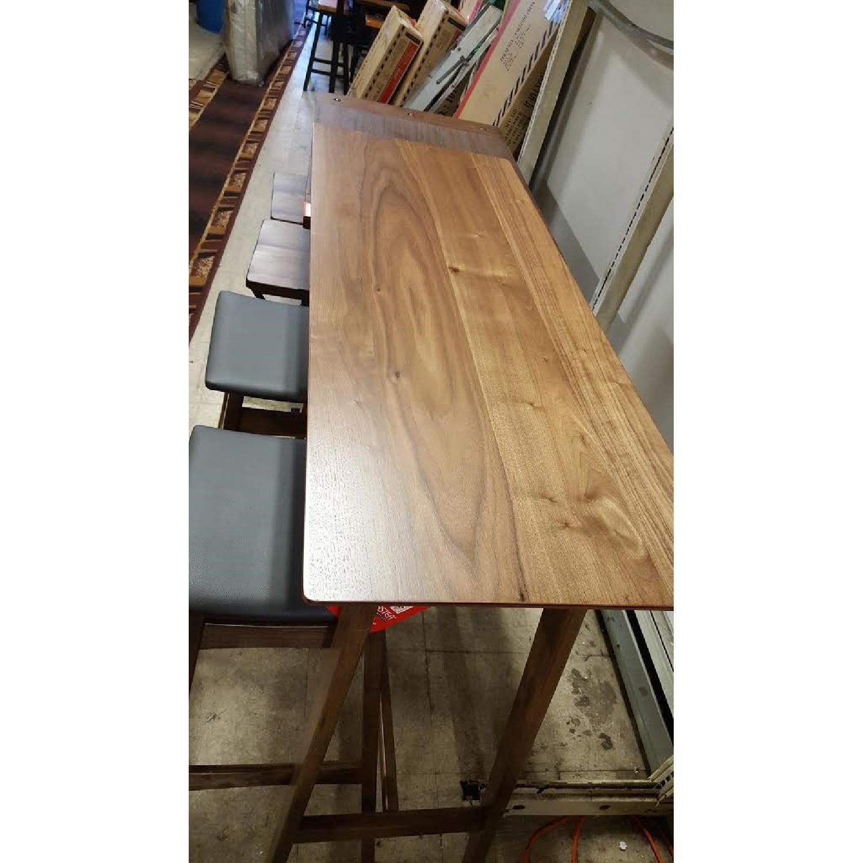 Mid Century Modern Bar Table W 2 Stools Aptdeco