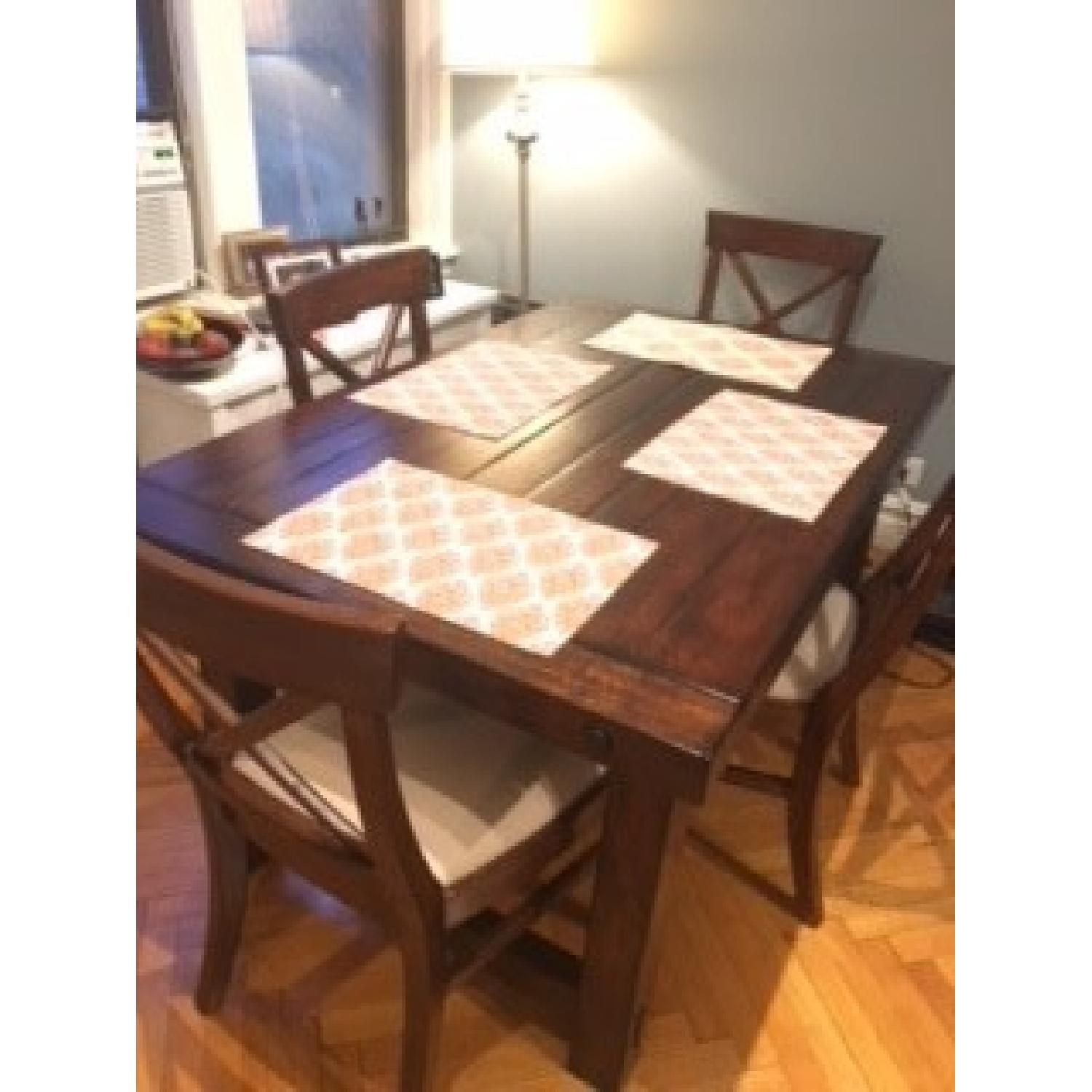 pottery barn benchwright extending dining table
