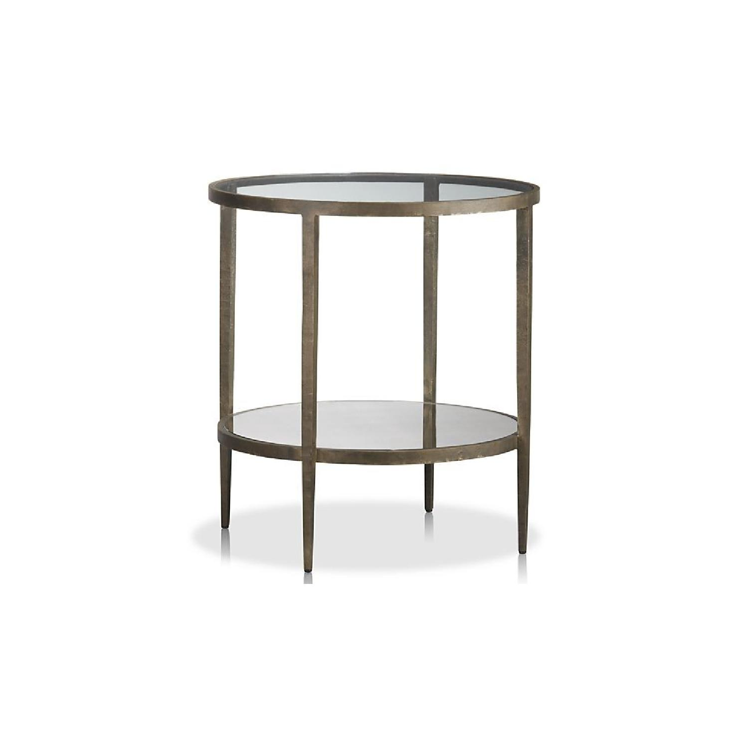 crate barrel clairemont round side table