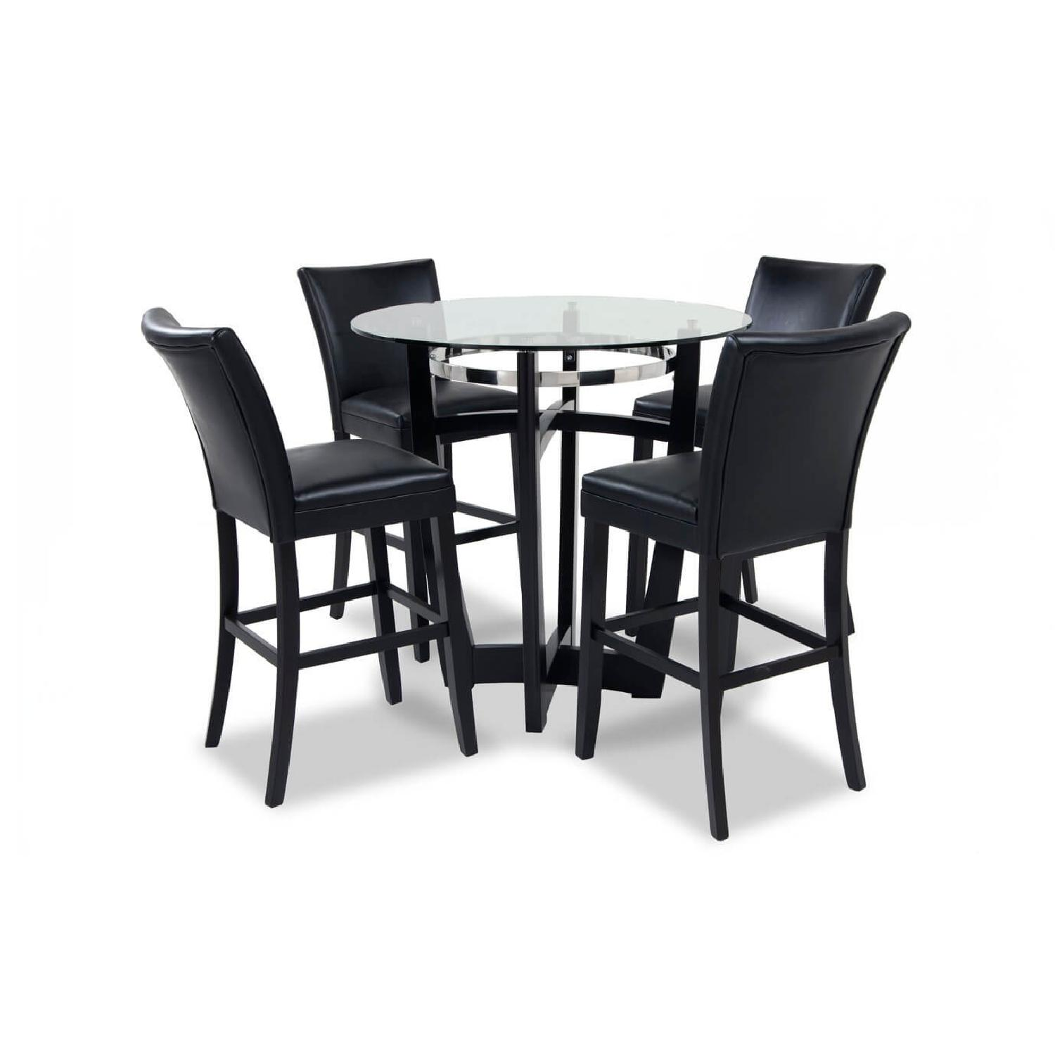 bob s matinee glass dining table w 4 chairs