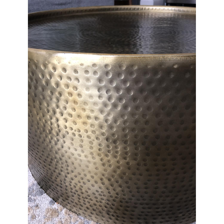 Target Gold Barrel Coffee Table Aptdeco