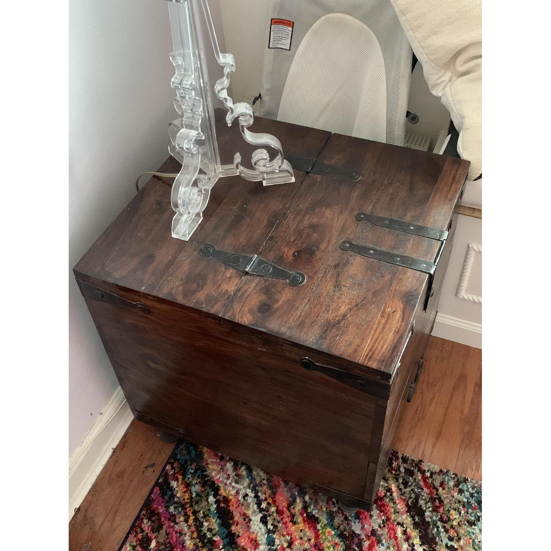 crate barrel taka side table trunk