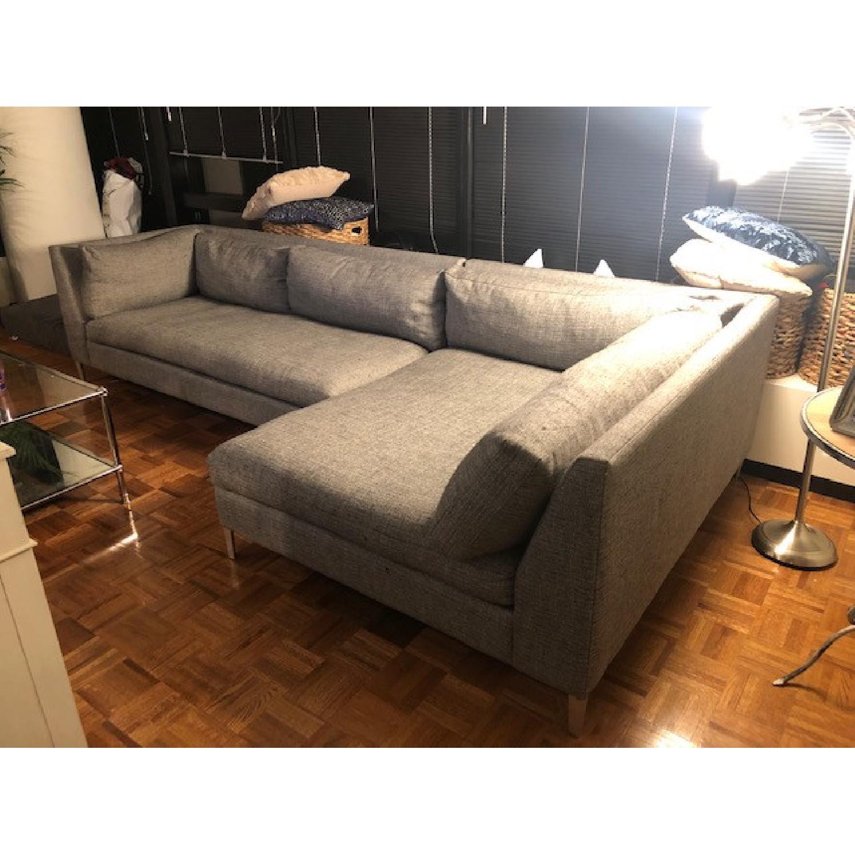 cb2 decker 2 piece sectional sofa