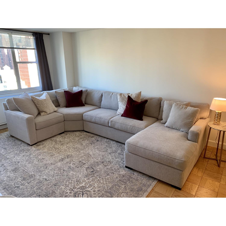 macy s radley 4 piece cinder grey sectional sofa