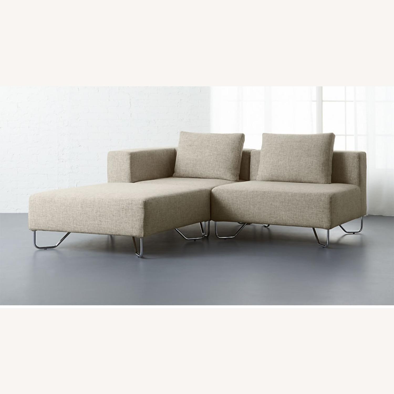 cb2 lotus natural 3 piece sectional sofa