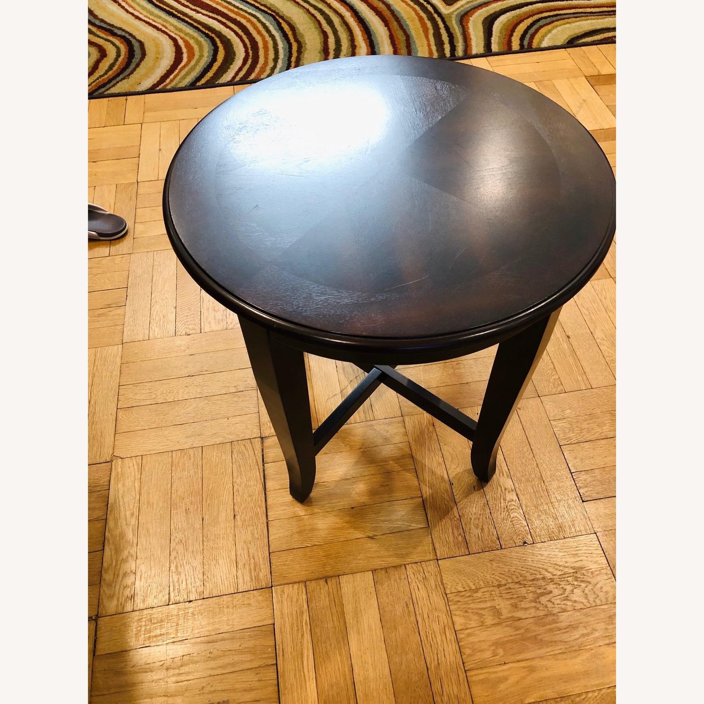glass coffee table 2 end tables in dark espresso