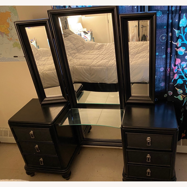 black full length vanity set