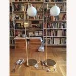 Pair Of West Elm Glass Globe Floor Lamps Aptdeco