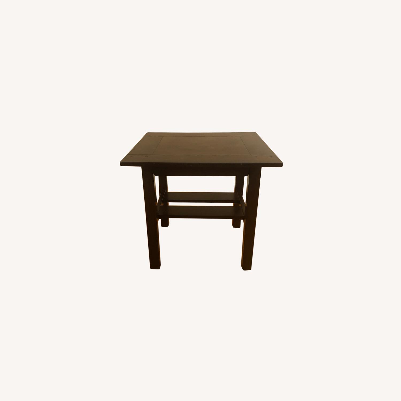 Ashley Furniture Espresso Wood Side Tables Aptdeco