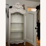 White Wardrobe Cabinet Armoire Aptdeco