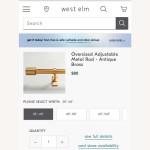 West Elm Antique Brass Curtain Rods Aptdeco