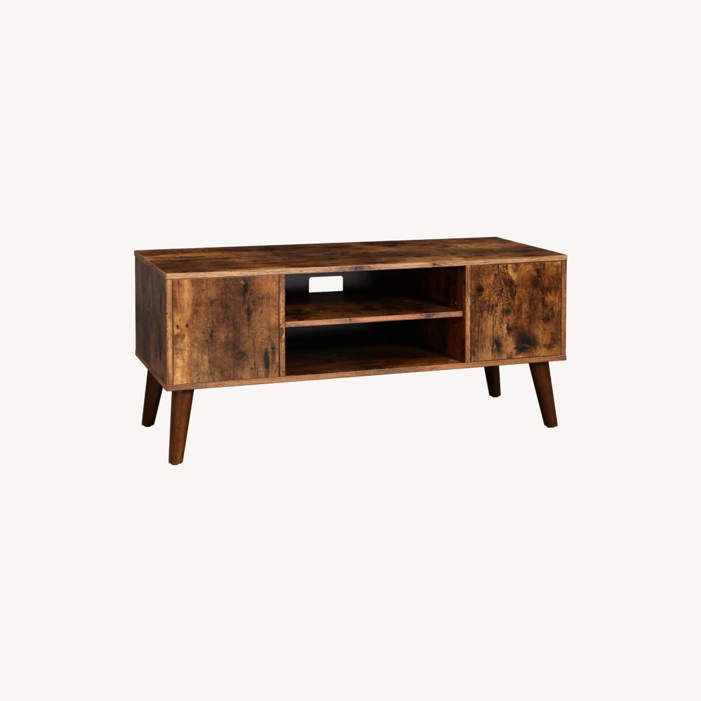 Furniture Usa Mid Century Modern Rustic Wood Tv Stand Aptdeco