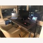 Grey Rustic Industrial Computer Office Desk Table Aptdeco