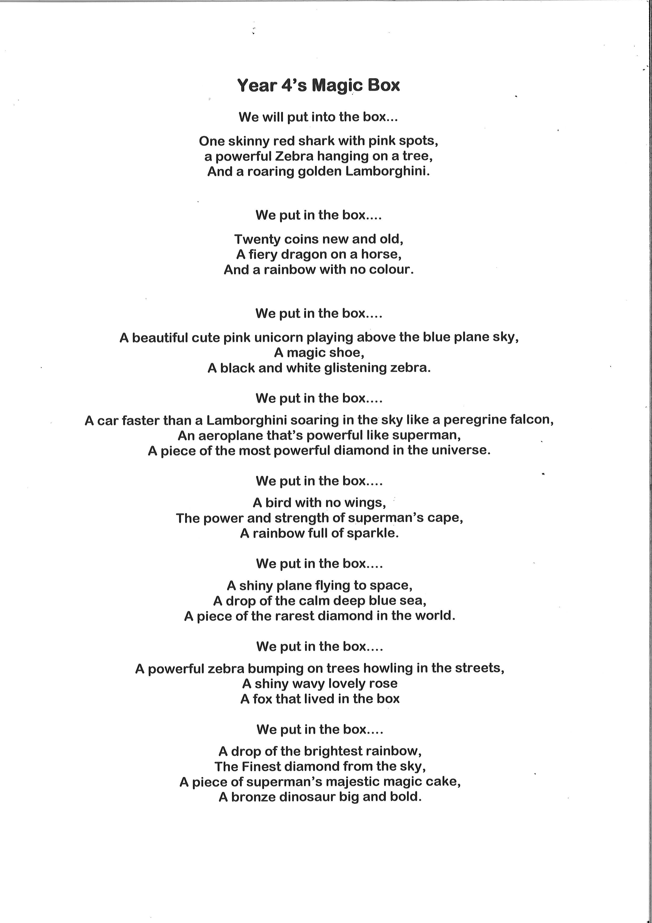 Whole Class Poem