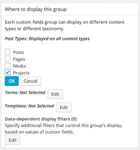 Group display settings