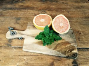 Pink Grapefruit and Garden Mint Water