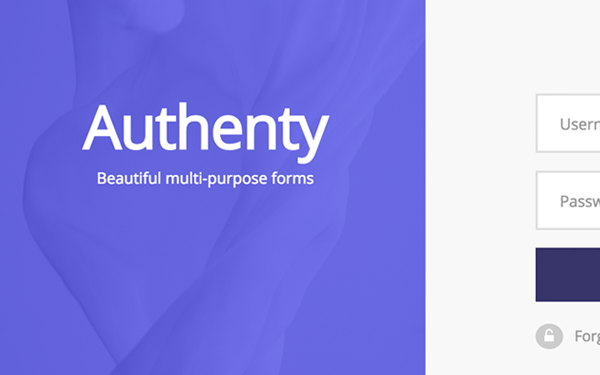 Authenty Login Signup Forms Components Wrapbootstrap