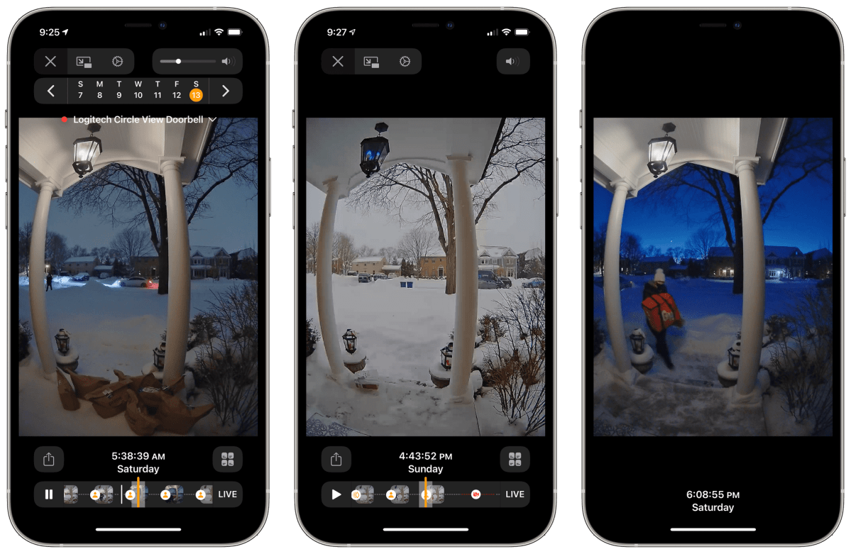 Keeping an eye out for grocery, package, and meal deliveries is by far my most frequent use of the Circle View Doorbell in these stay-at-home times.