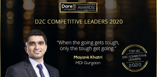 How to turn aspirations into reality D2C Competitive Leader 2020 Mayank from MDI
