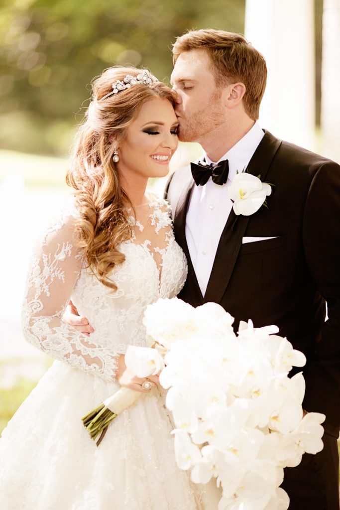 Collins Tuohy and Cannon Smith on wedding day