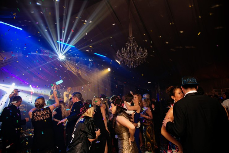 Party on the Moon band at celebrity wedding