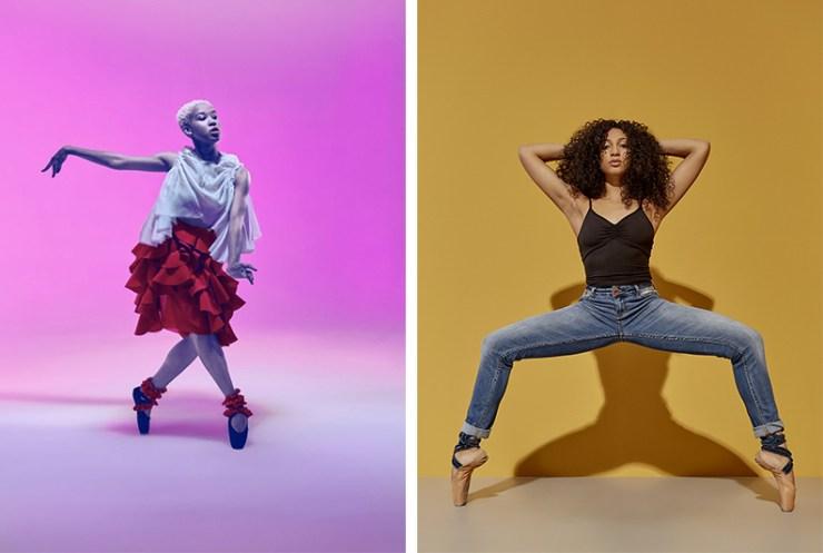 Hiplet Ballerinas posing in promo photos
