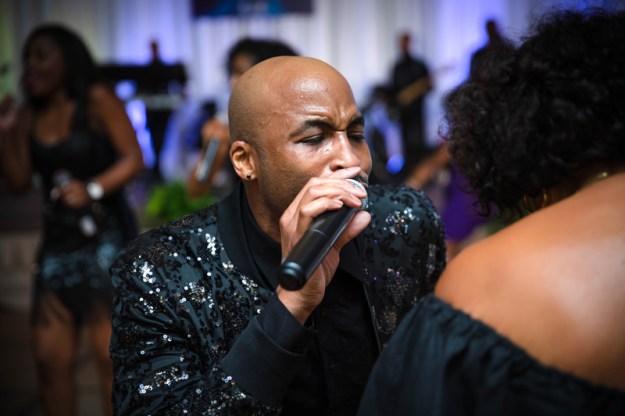 I Love This Band singer on dance floor
