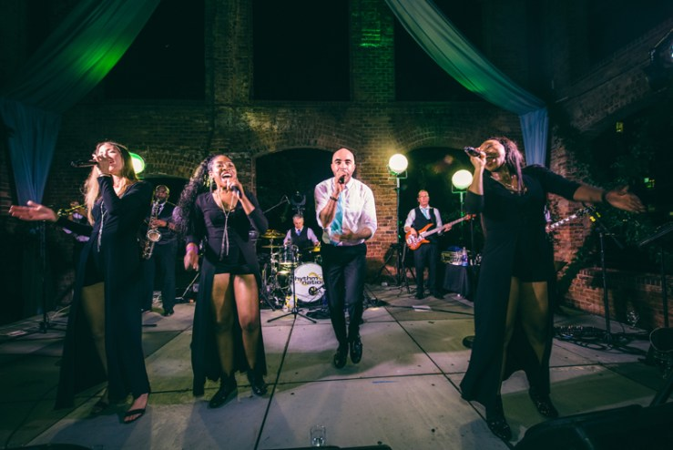 rhythm nation band performing at greenville sc wedding