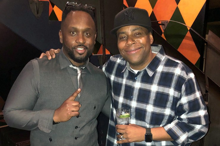 Will Jacobs and Kenan Thompson at Saturday Night Live
