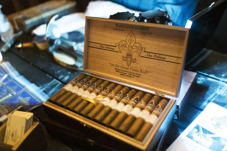 Cigar bar at New Orleans wedding